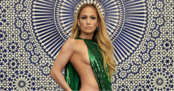 J.Lo's Fit Body In This Barely-There Dress Will Make You *Green* With Envy