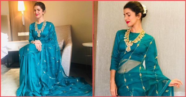 Airlift That: Nimrat Kaur's Saree Will Make You Wanna Steal That Teal This Diwali!
