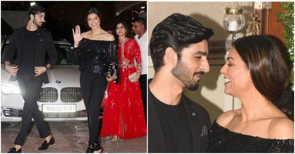 Sushmita Sen Twins In Black With *Dilbar* Rohman Shawl At Shilpa Shetty's Diwali Bash