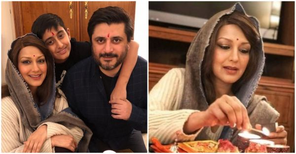 See Pics: Sonali Bendre Celebrates An 'Unconventional' Diwali With Family In New York