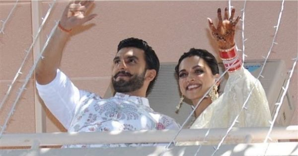 Deepika & Ranveer Stepped Out To Greet Their Fans And They Just Went Crazy!