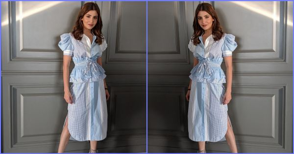 #TrendWatch: Anushka Sharma's Blue & White Dress Is Making Us Wish For Summer Again!