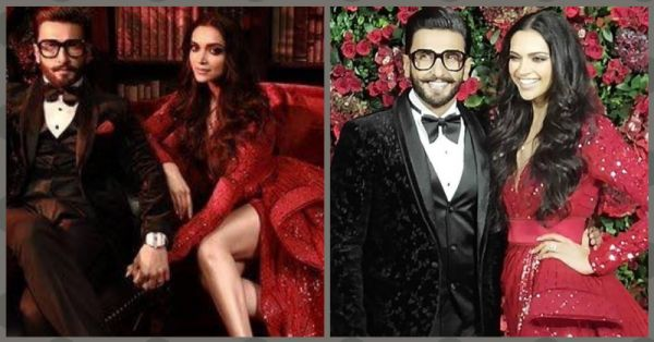 Beauty & The Geek: Ranveer Singh & Deepika Padukone Are All Decked Up For Their B-Town Bash!