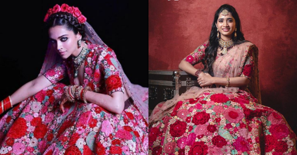 This Bride Was Twinning With Deepika Padukone & We Love The Floral Lehenga Even More Now!