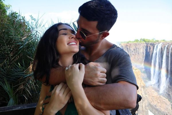 A Love-Struck Amy Jackson Shared A Pic Of Her Handsome Fiancé & The Huge Engagement Ring!