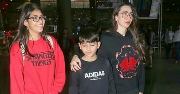 Karisma Kapoor And Son Kiaan's Matching Black Tracksuits Are Making Us Go *Awwww*