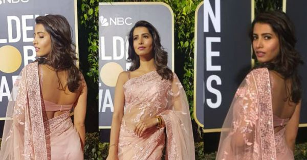 Not PC, *This* Former Miss India Debuted A Saree At The Golden Globe Awards & Made Us Proud!