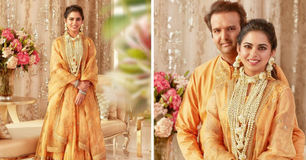 New Pictures From Isha Ambani And Anand Piramal's Haldi Ceremony Are Here!