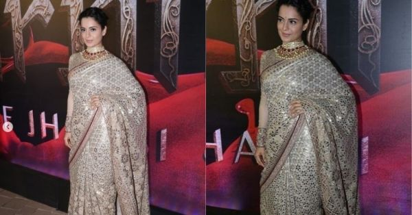 Kangana Ranaut's Designer Saree Will Make You Reach For Tissues To Wipe Those *Happy Tears*