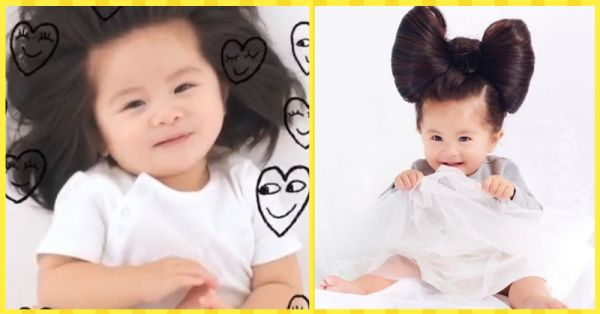 #HairGoals: This 1-Year Old Baby Is The New Face Of Pantene And We Can't Get Over It!