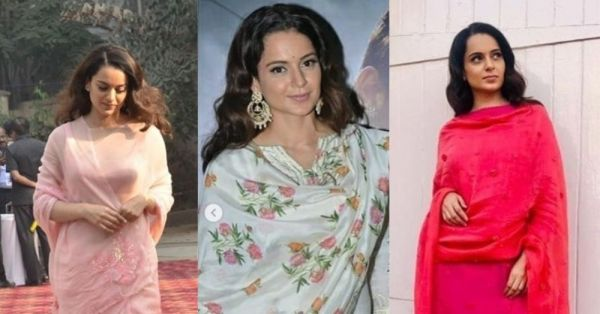 Kangana Ranaut's Back-To-Back Ethnic Looks Prove Why She Is A True Fashion *Queen*
