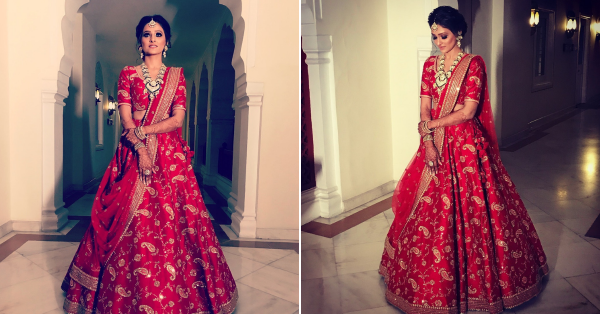 This Sabyasachi Bride In Red Looked Like An Angel Dancing On 'Piya Tose Naina Lage'