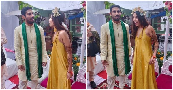 All The Pictures From The Haldi And Mehendi Ceremony Of Prateik Babbar And Sanya Sagar!