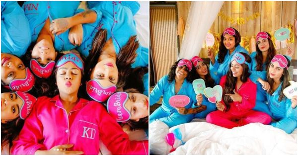 PJs, Pouts & Poses: Krystle D'Souza And Squad Look Like Candy Floss At BFF's Bachelorette