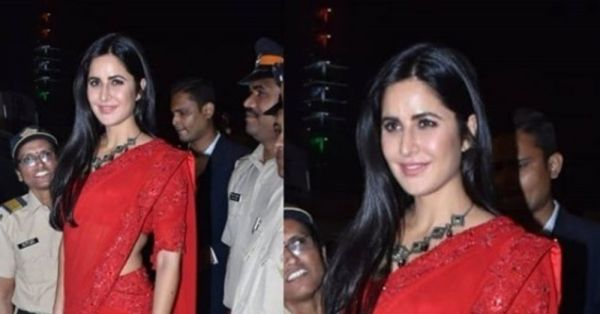 Katrina Kaif's Red Hot Saree Is Playing Tricks On Us And We're Enjoying It!