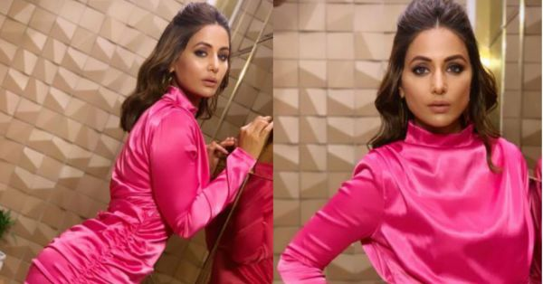 Oops! Hina Khan Did It Again:  The Bigg Boss Star Wore THIS Dress & Ended Up Looking Like *Diwali Wala Wrapping Paper*