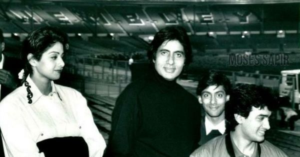Unseen Pics: When Sridevi, Aamir & Salman Tagged Along With Big B For Their First Concert