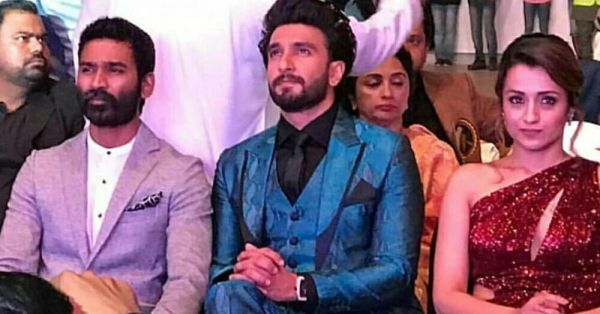 Gully Boy Ranveer Singh Dedicates His Acceptance Speech To Dhanush And Trisha!