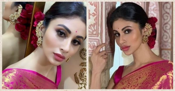 Pink Lips & Brown Smokey Eyes: Mouni Roy Is The Perfect Shaadi Guest In This Pretty Look