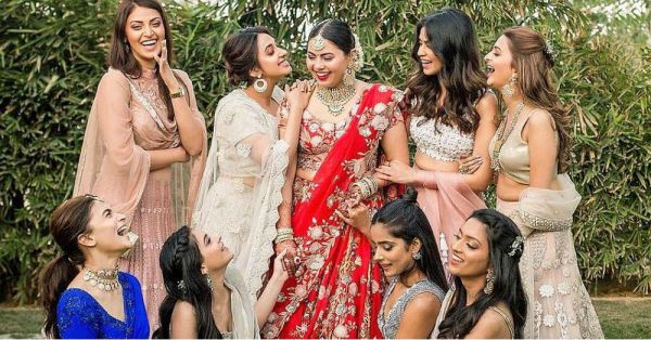 THIS Bollywood Bridesmaid Is Giving Us All The Right Kinds Of Blues In A Ruffle Saree