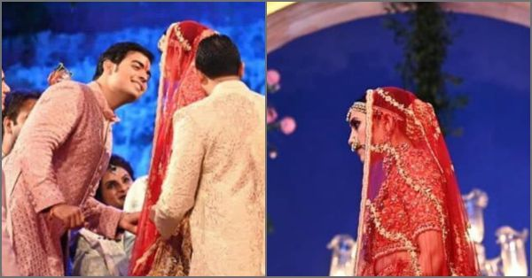 The First Photos Of Dulha-Dulhan Akash And Shloka Are Here & They Look Drop Dead Gorgeous!