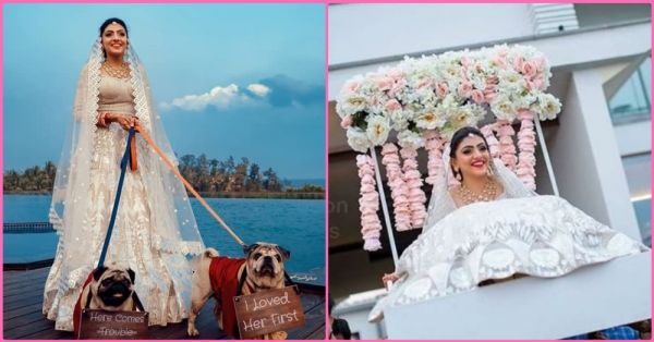 This Indian Bride Wore An All-White Lehenga On Her Wedding And Looked Like A Dream!