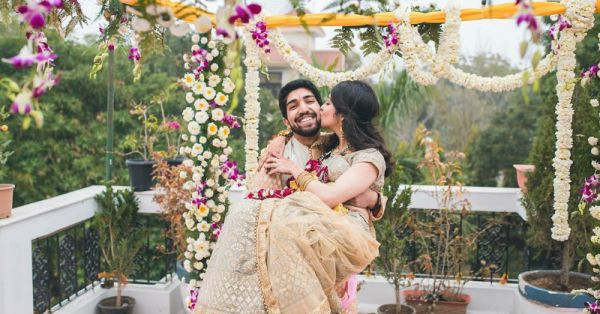From Wows To Vows: This Delhi Bride Travels The World But Got Married On Her Terrace!