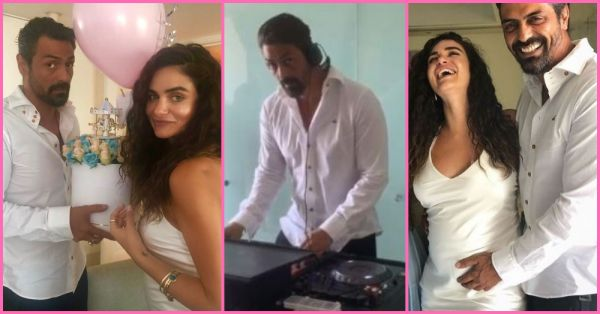 Baby Ko Bass Pasand Hai: Arjun Rampal Plays DJ At Girlfriend Gabriella's Baby Shower