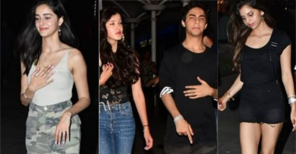 SPOTTED: Star Kids Suhana, Aryan, Ananya, Shanaya, & Ahaan Ready To Party Like There Is No Tomorrow