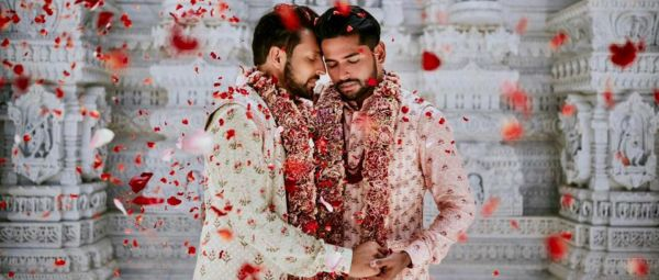 These Grooms Tied The Knot In Matching Sherwanis & We're In Awe Of Their Beautiful Wedding