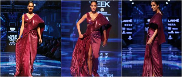Pregnant And Glowing: Lisa Haydon Turns Showstopper At The Lakme Fashion Week