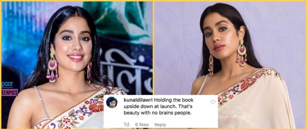 Janhvi Kapoor Becomes The Target Of Trolls As She Holds Book Upside-Down At Its Launch