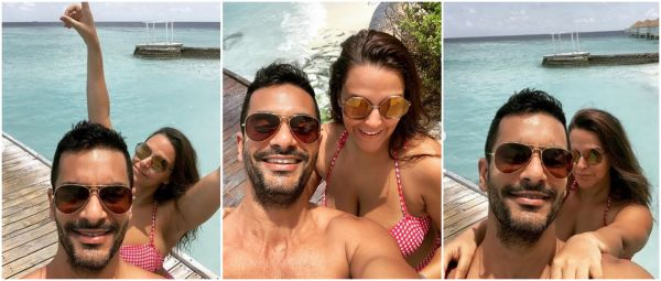 Birthday, Beach & Bikini: Neha Dhupia Rings In Her 39th With Angad Bedi In Maldives
