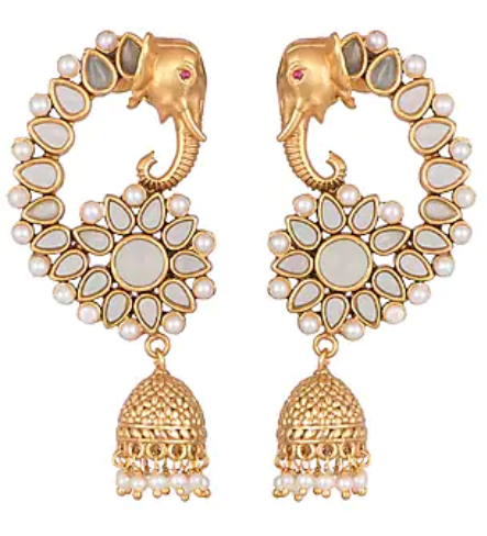 New Gold Jhumka Earrings Designs - 30 Designs That'll