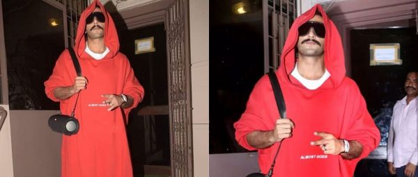 Why Baba, Why? Ranveer Singh Wore The Craziest Hoodie Anyone's Worn In 2019