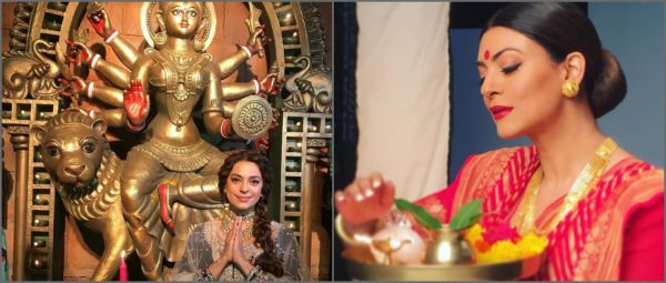B-Town Celebs Looked Like Bong Goddesses On Durga Puja & We've Got All The Pictures