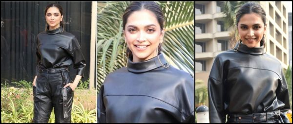 Deepika Padukone Wore Head-To-Toe Leather In Mumbai Weather But How? And Why?