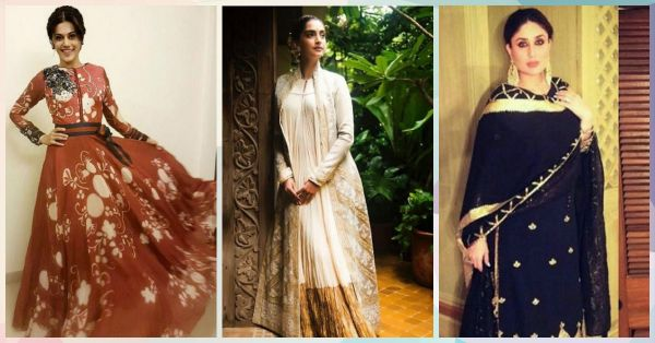 10 Different Ways To Style Your Anarkali For Diwali Parties!